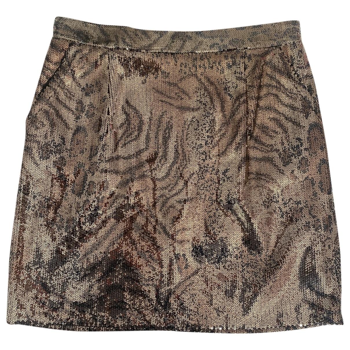 Zara - Jupe   pour femme en a paillettes - dore