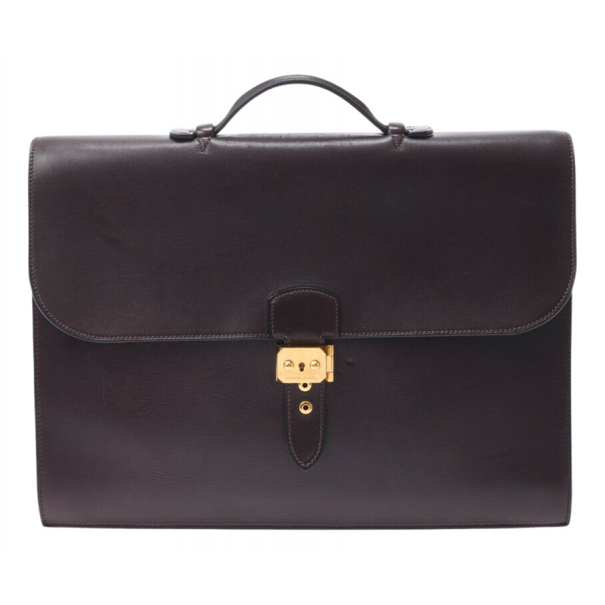 Hermès N Burgundy Leather handbag for Women N