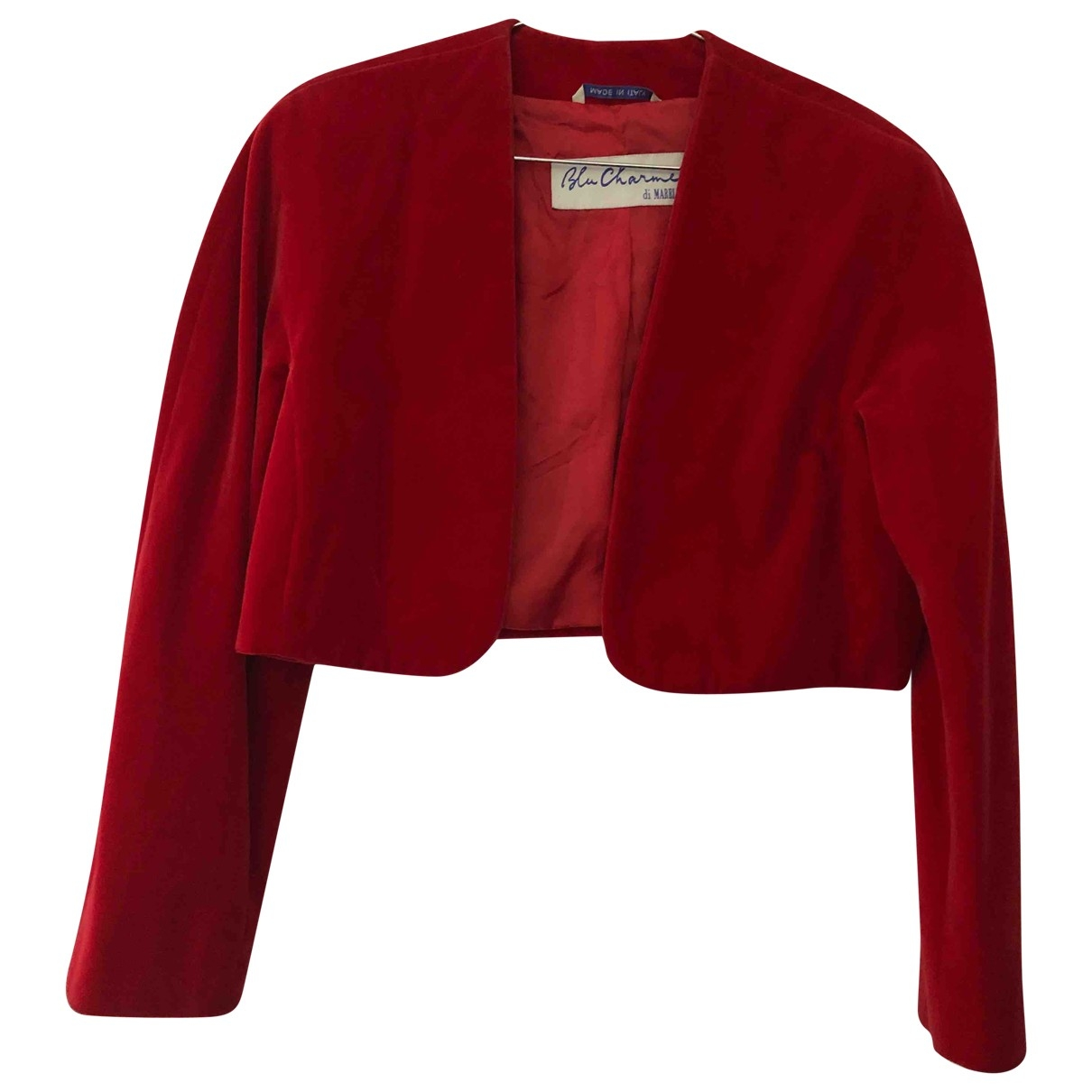 Non Signé / Unsigned \N Red Cotton jacket for Women 44 IT