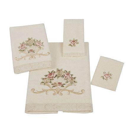 Avanti Rosefan Ivory Bath Towels, One Size , White