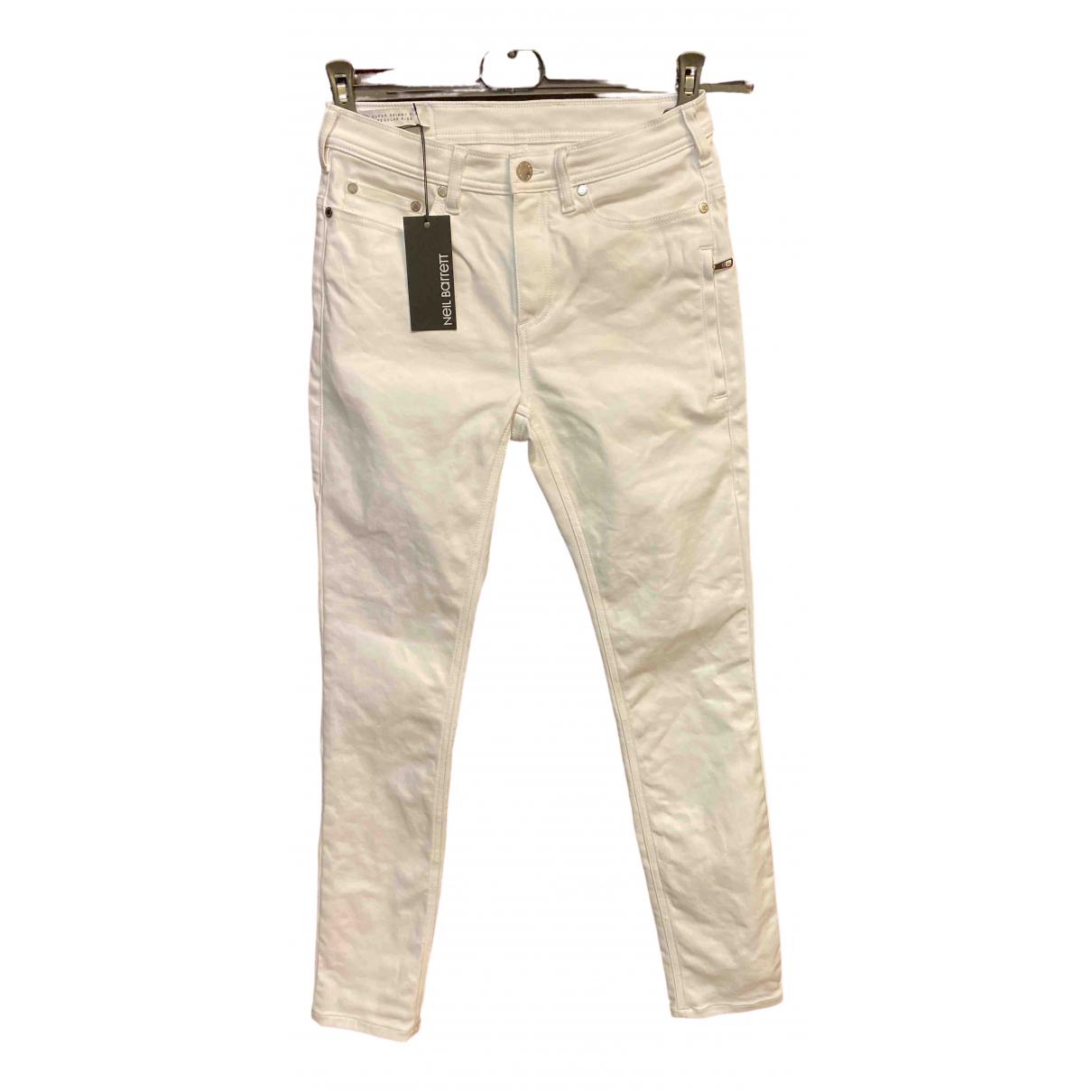 Neil Barrett \N White Cotton - elasthane Jeans for Men 30 US