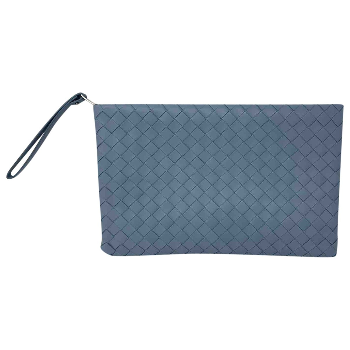 Bottega Veneta Veneta Clutch in  Blau Leder