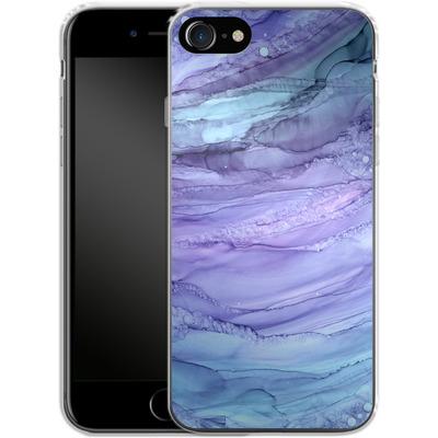 Apple iPhone 7 Silikon Handyhuelle - Mermaid Marble von Becky Starsmore
