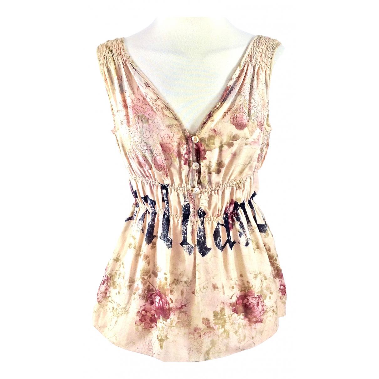 Galliano - Top   pour femme en coton - rose