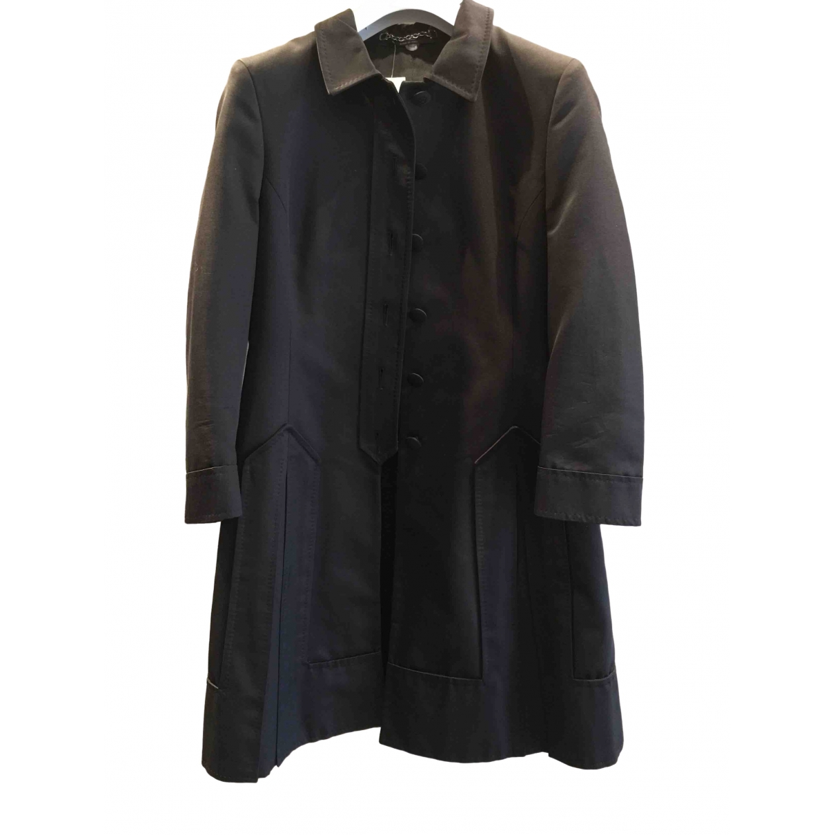 Gucci \N Black Cotton coat for Women 40 IT