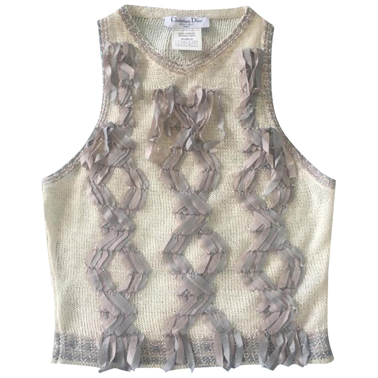 Dior \N Ecru Linen Knitwear for Women S International
