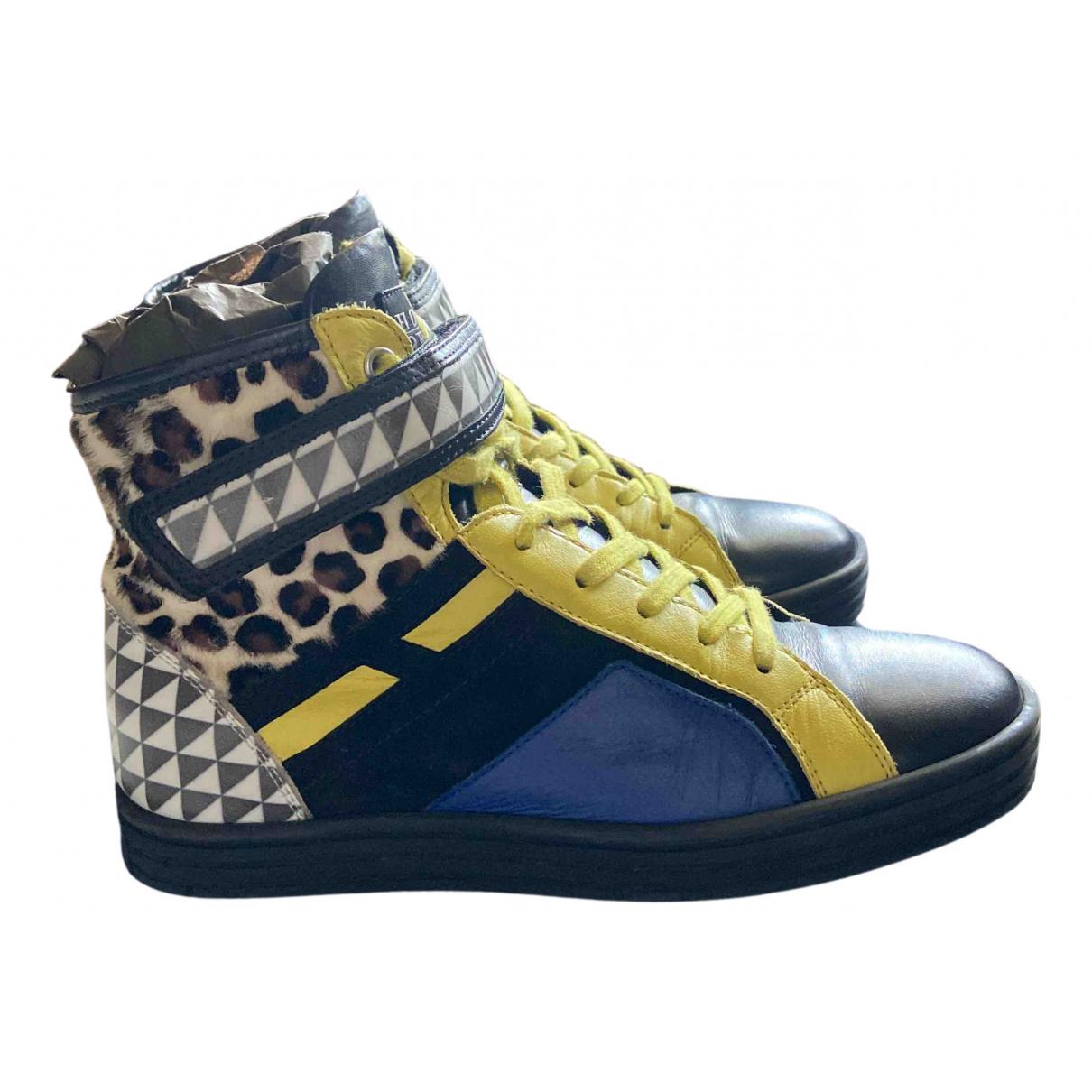 Hogan \N Sneakers in  Schwarz Kalbsleder in Pony-Optik