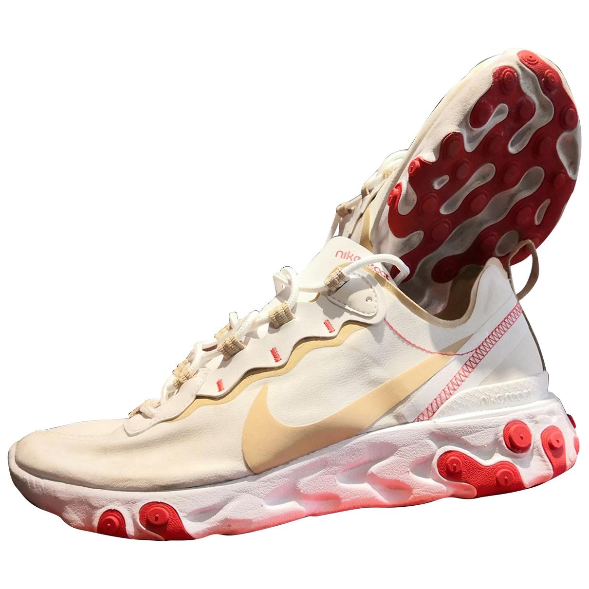 Nike - Baskets React element 55 pour homme en toile - beige