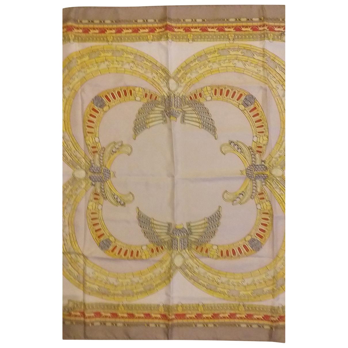 Cartier - Carre   pour femme en soie - beige