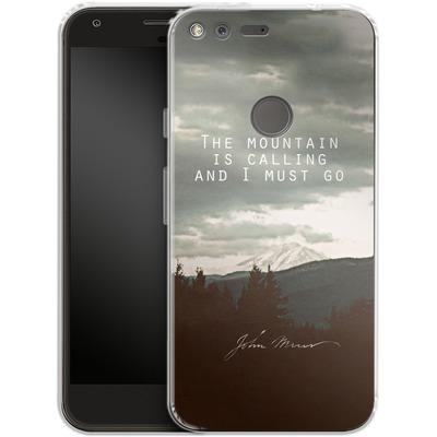 Google Pixel XL Silikon Handyhuelle - The Mountain Is Calling von Leah Flores