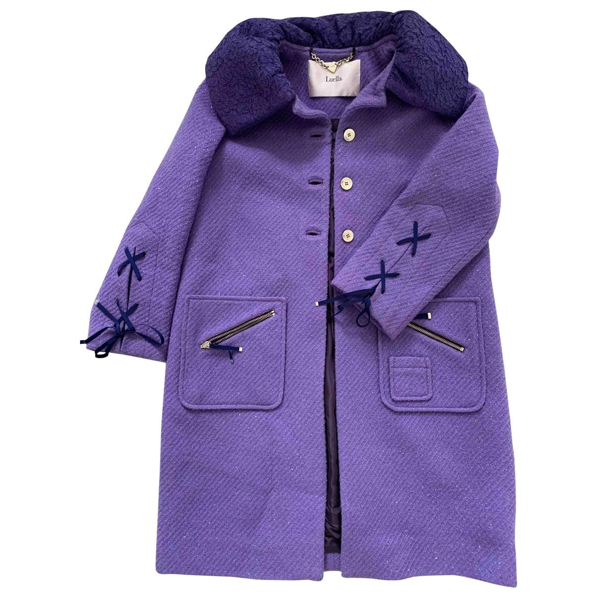 Luella - Manteau   pour femme en laine - violet