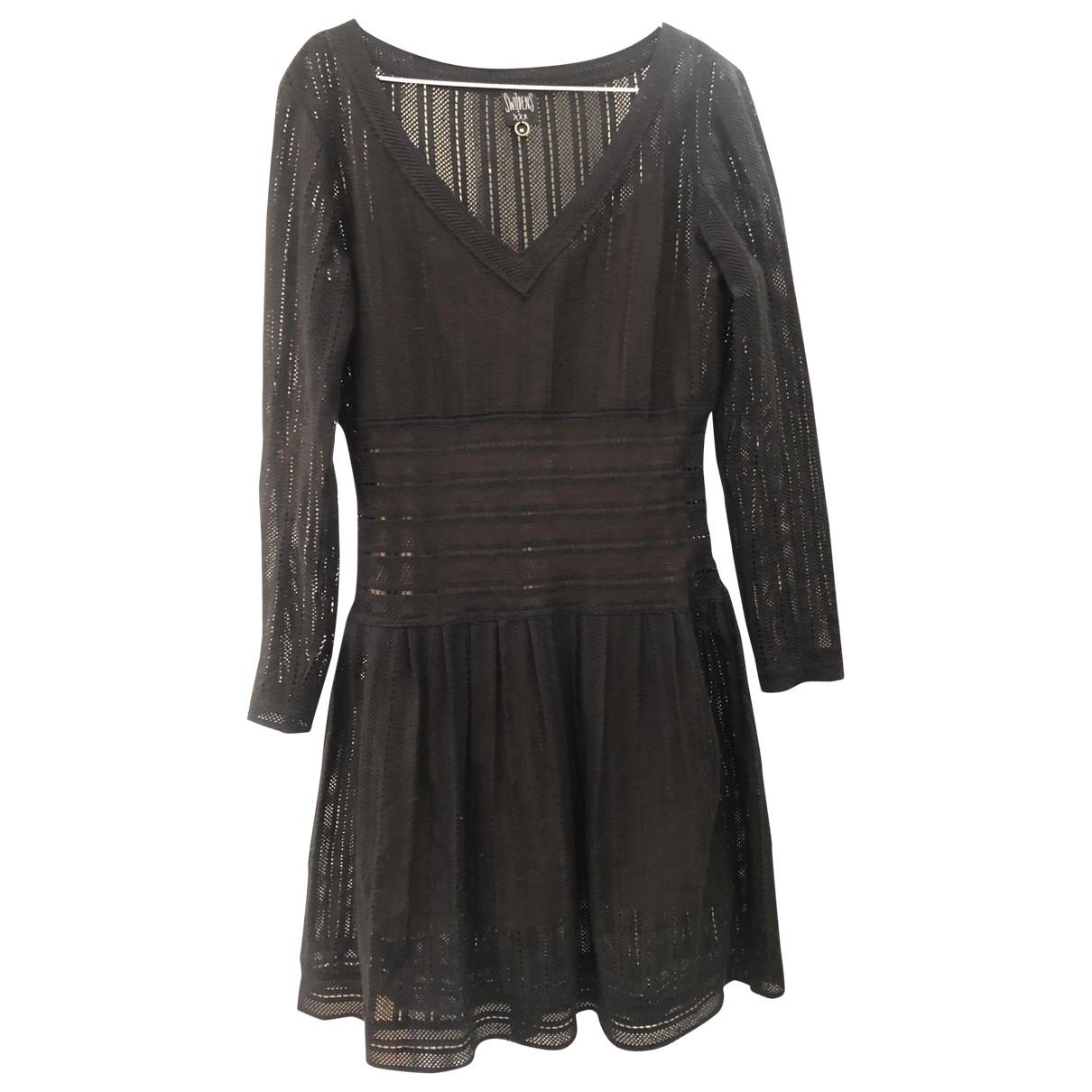 Swildens - Robe   pour femme en coton - noir