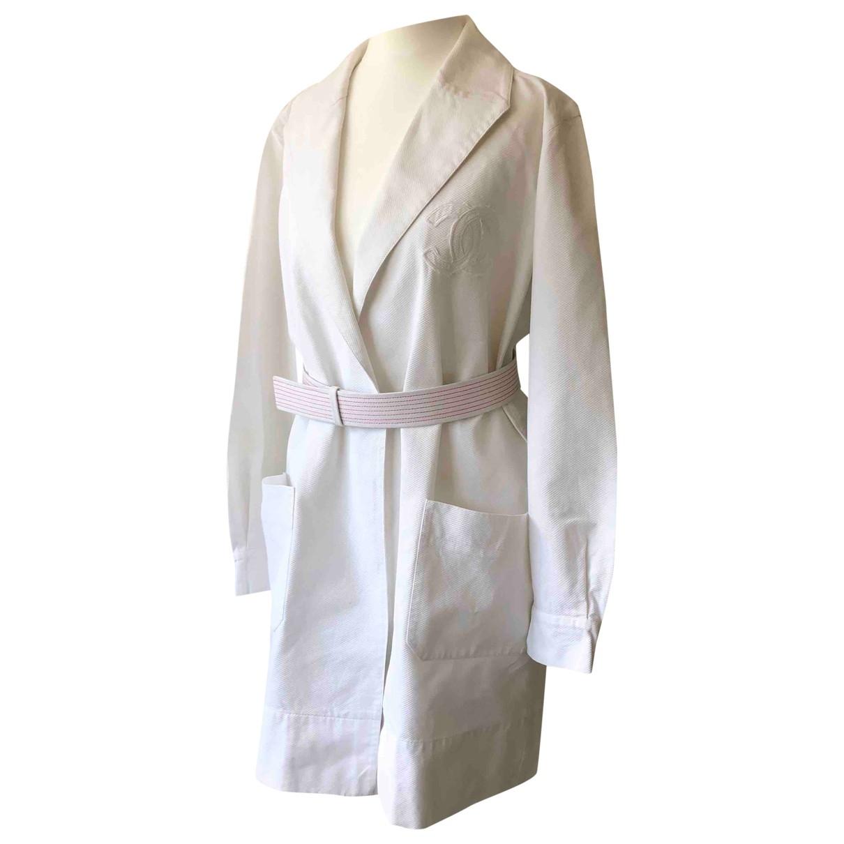 Chanel \N White Cotton coat for Women 38 FR