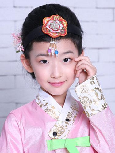 Milanoo Girls Korean Headpieces Red Halloween Asian Costume Hair Accessories