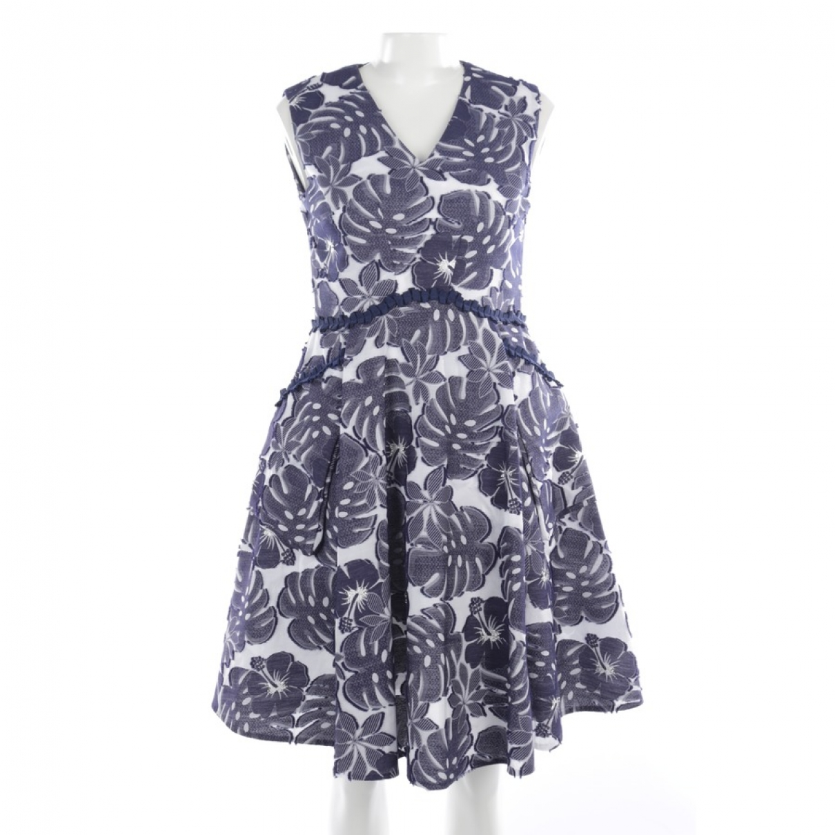 Talbot Runhof - Robe   pour femme en coton - bleu