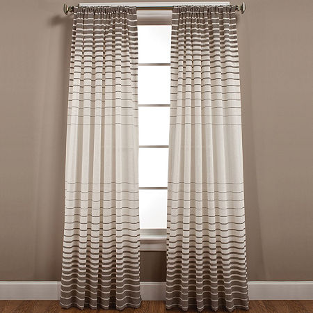 Side Step Rod-Pocket Curtain Panel, One Size , Brown