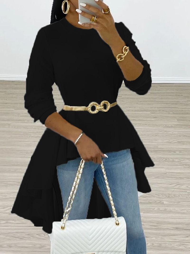 Ericdress Plain Regular Long Sleeve Women's Long Blouse