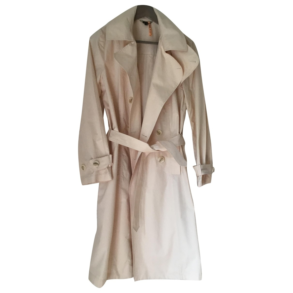 Tara Jarmon \N Beige Cotton Trench coat for Women 40 FR