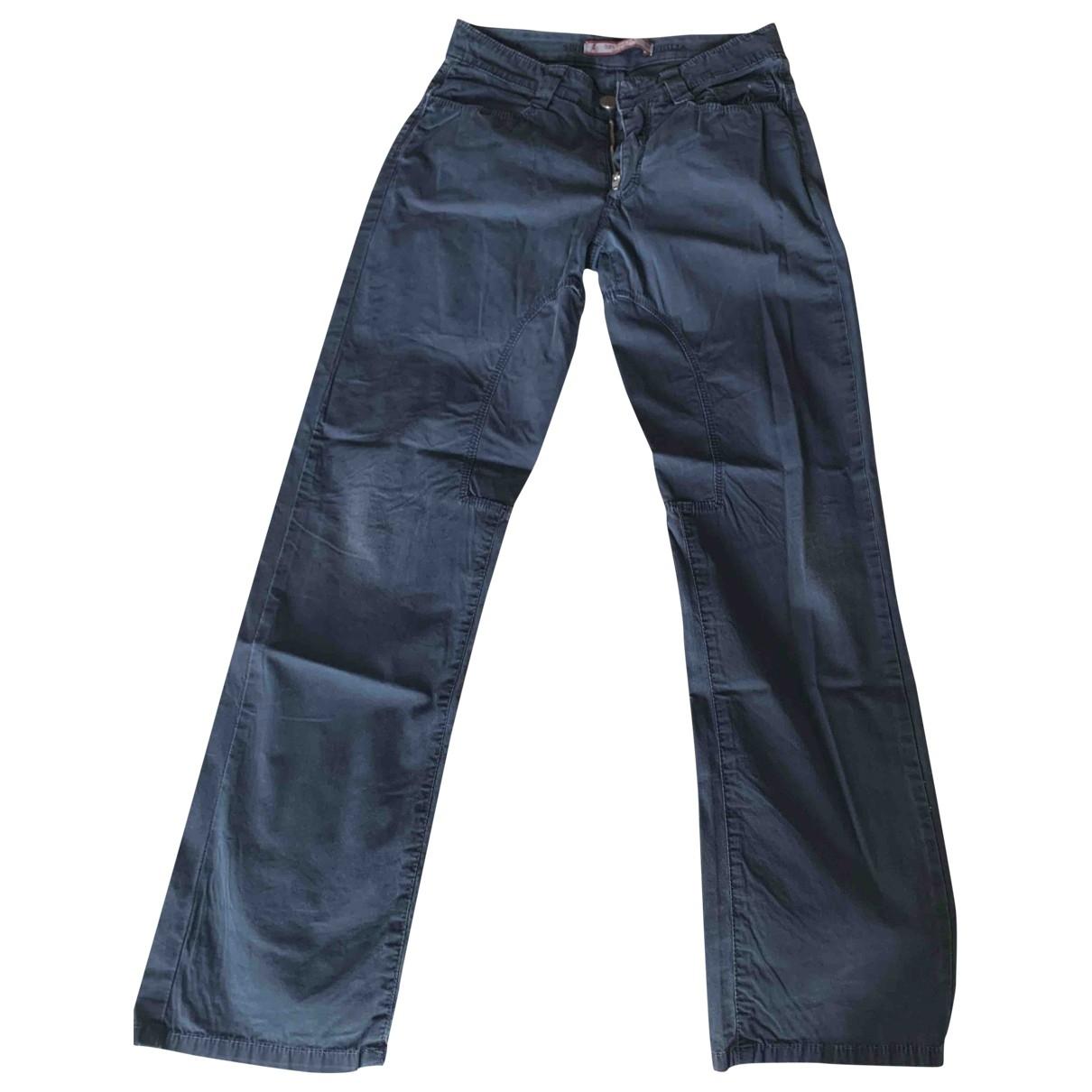 Pantalones en Algodon Azul Atelier Siviglia