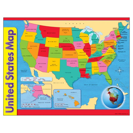 United States Map Learning Chart, 17