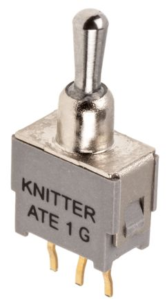 KNITTER-SWITCH SPDT Toggle Switch, (On)-Off-(On), PCB