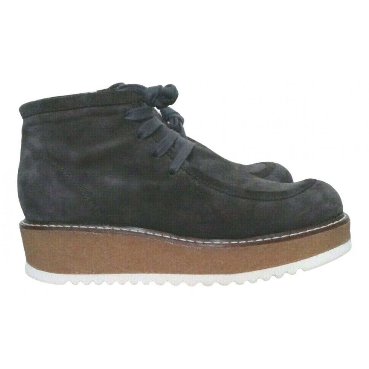 Max Mara Weekend - Boots   pour femme en suede - gris
