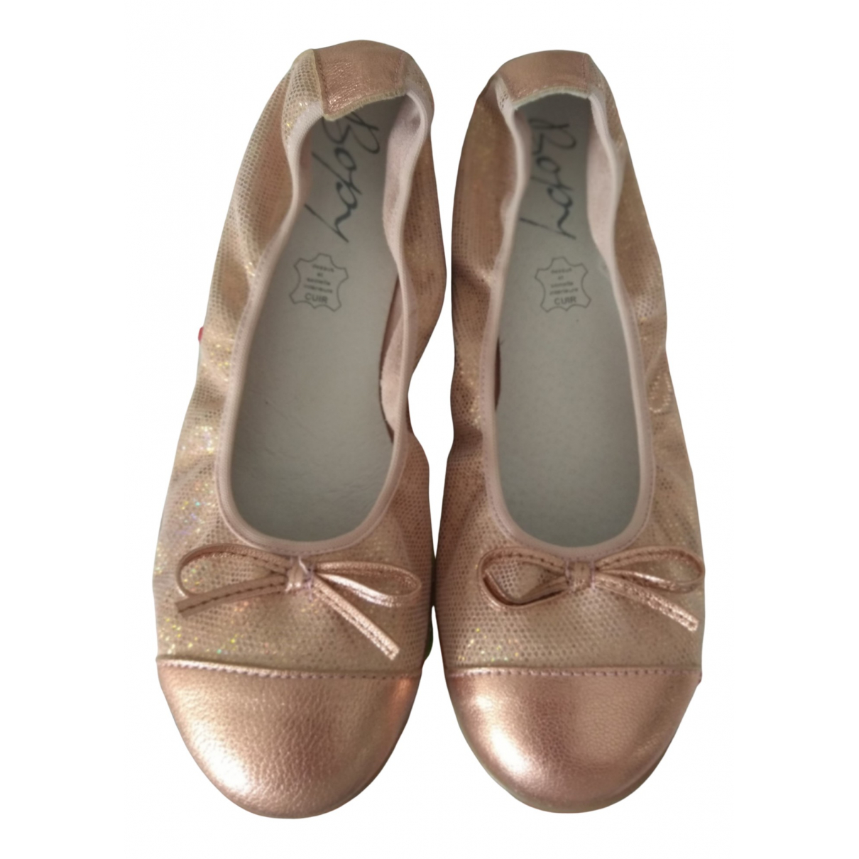 Non Signe / Unsigned \N Ballerinas in  Metallic Leder