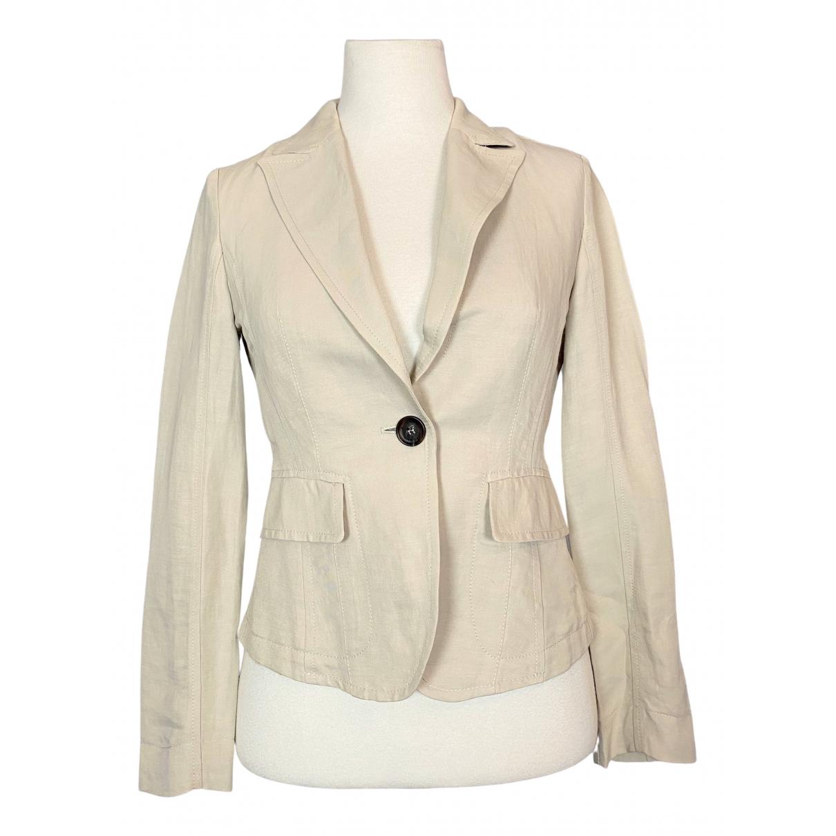 Marc Cain \N Beige Linen jacket for Women 2 0-5