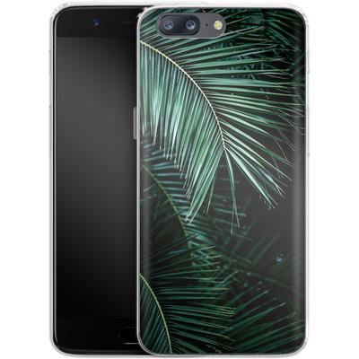 OnePlus 5 Silikon Handyhuelle - Palm Leaves 9 von Mareike Bohmer