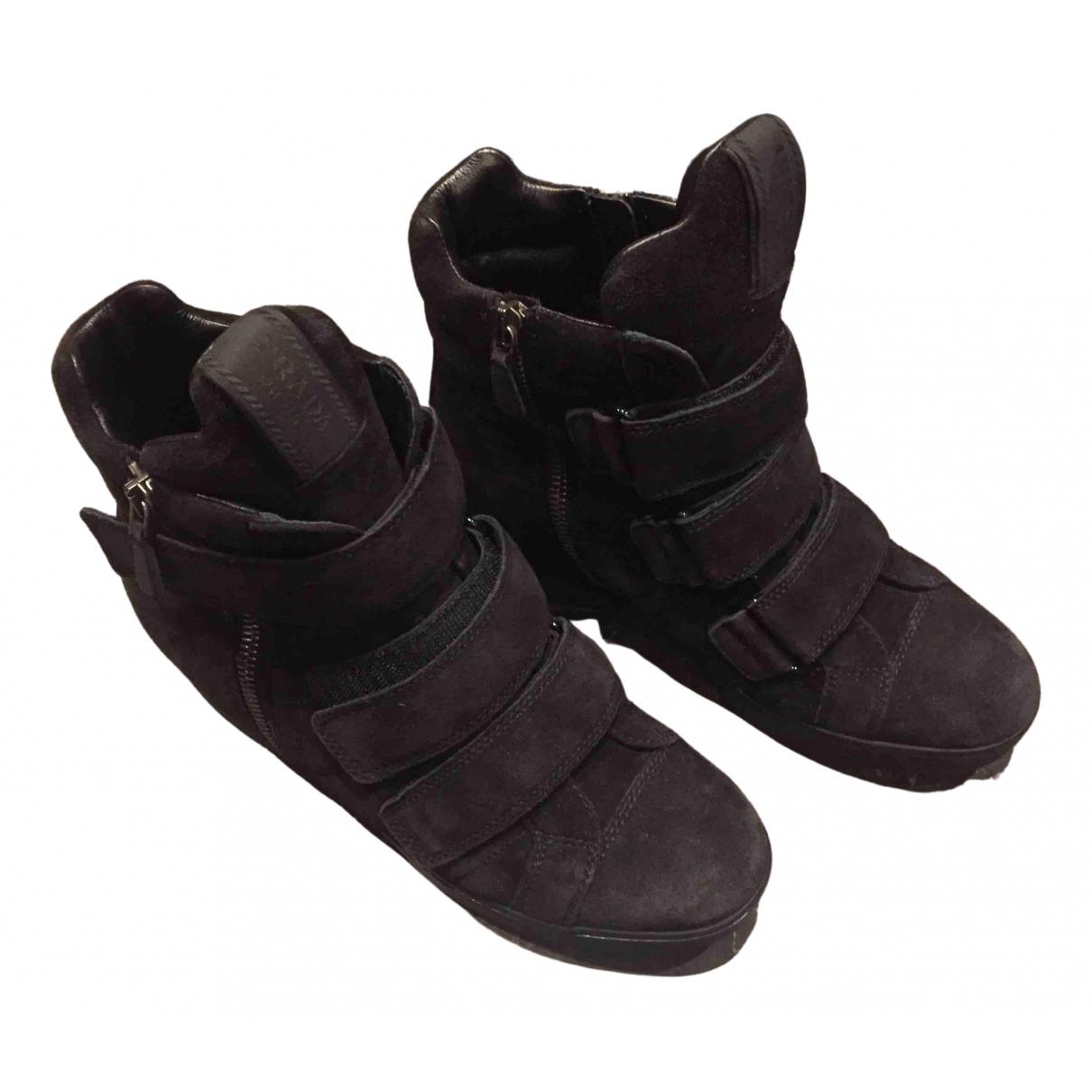 Prada \N Black Suede Boots for Women 37 EU