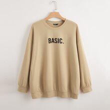 Sweatshirt mit Buchstaben Grafik