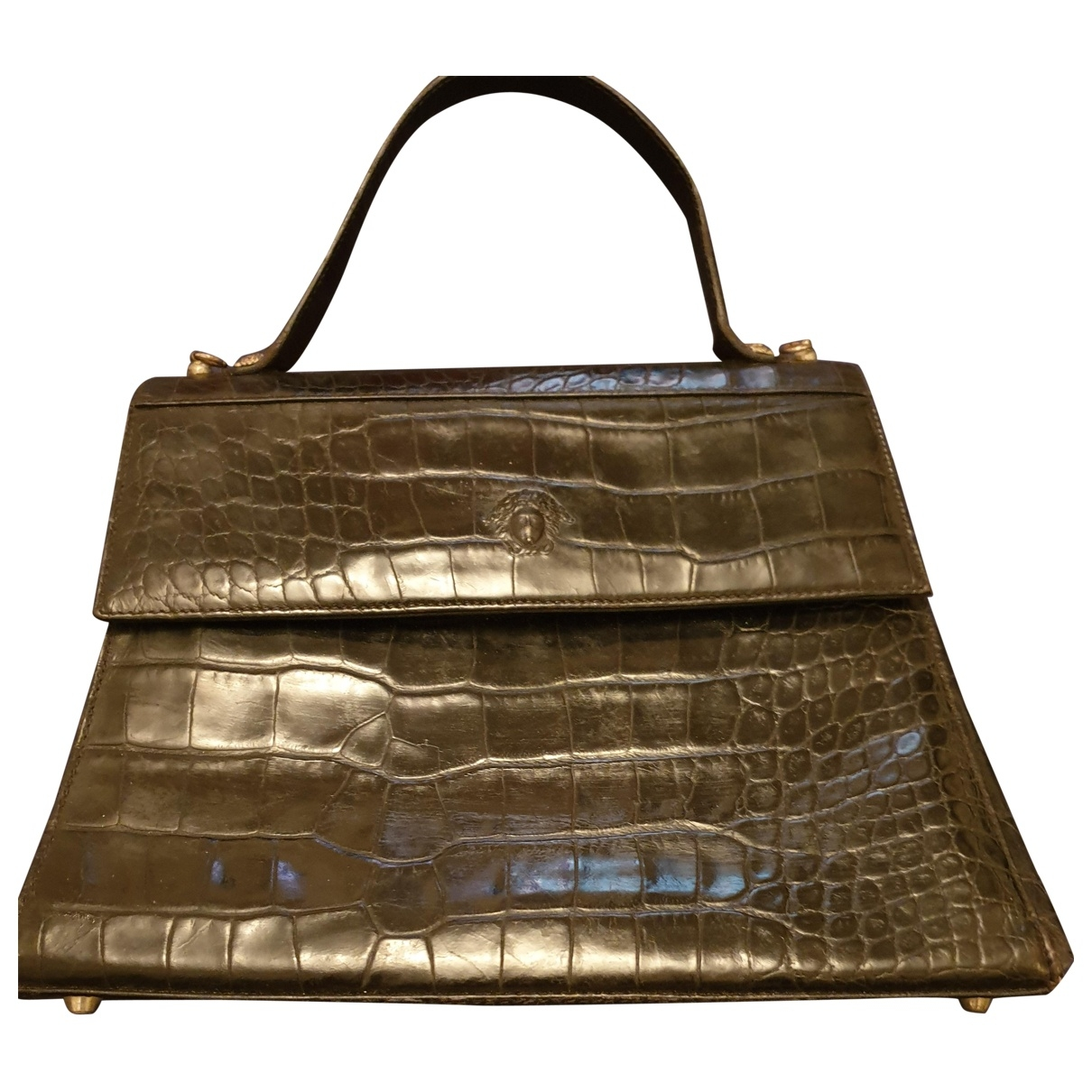 Gianni Versace \N Handtasche in  Schwarz Exotenleder