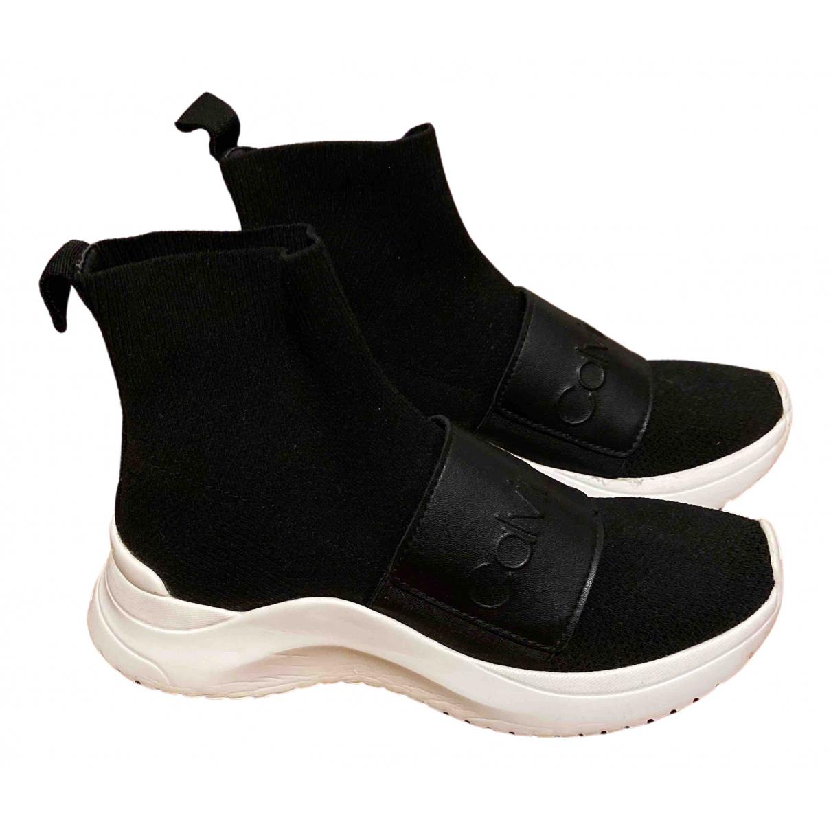 Calvin Klein N Black Cloth Trainers for Women 36 EU