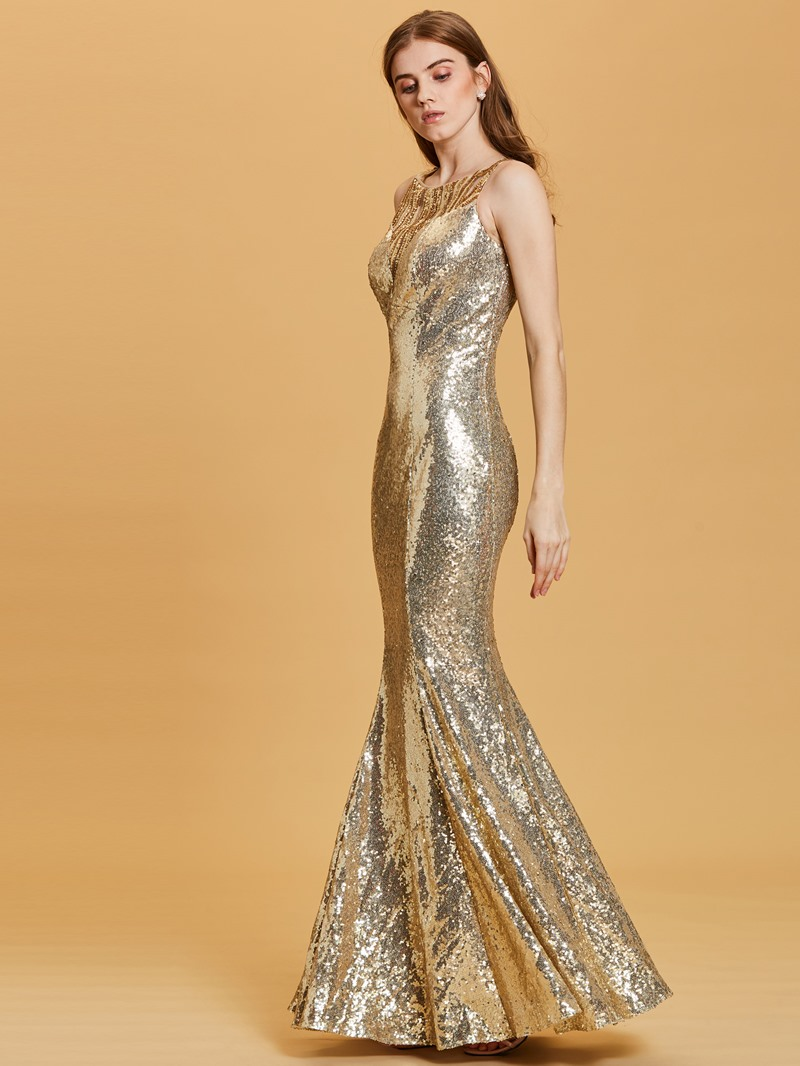 Ericdress Scoop Neckline Sequins Mermaid Evening Dress