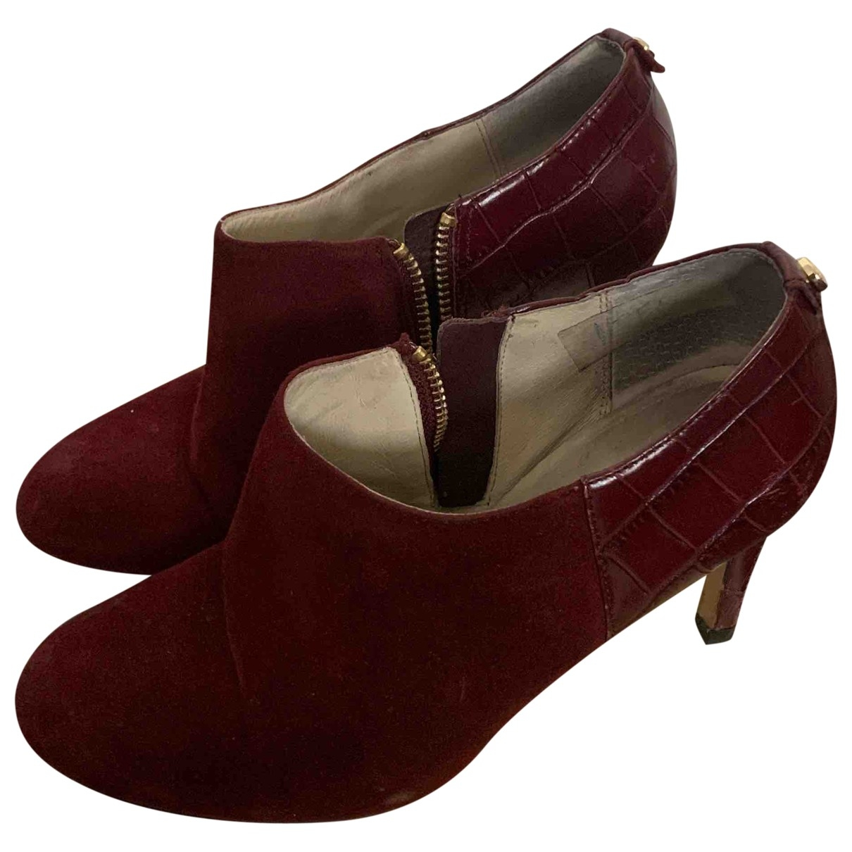 Michael Kors \N Burgundy Leather Ankle boots for Women 35.5 EU