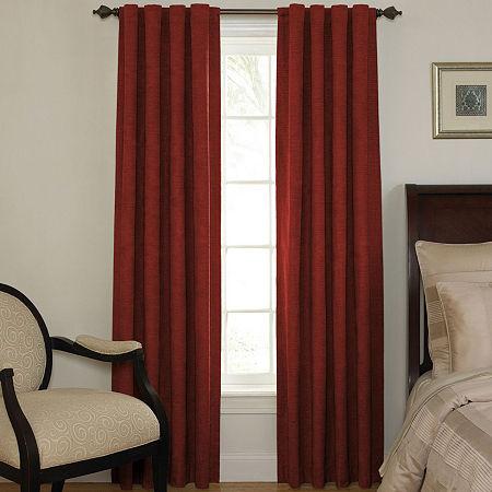 Sound Asleep Room-Darkening Back-Tab Curtain Panel, One Size , Red