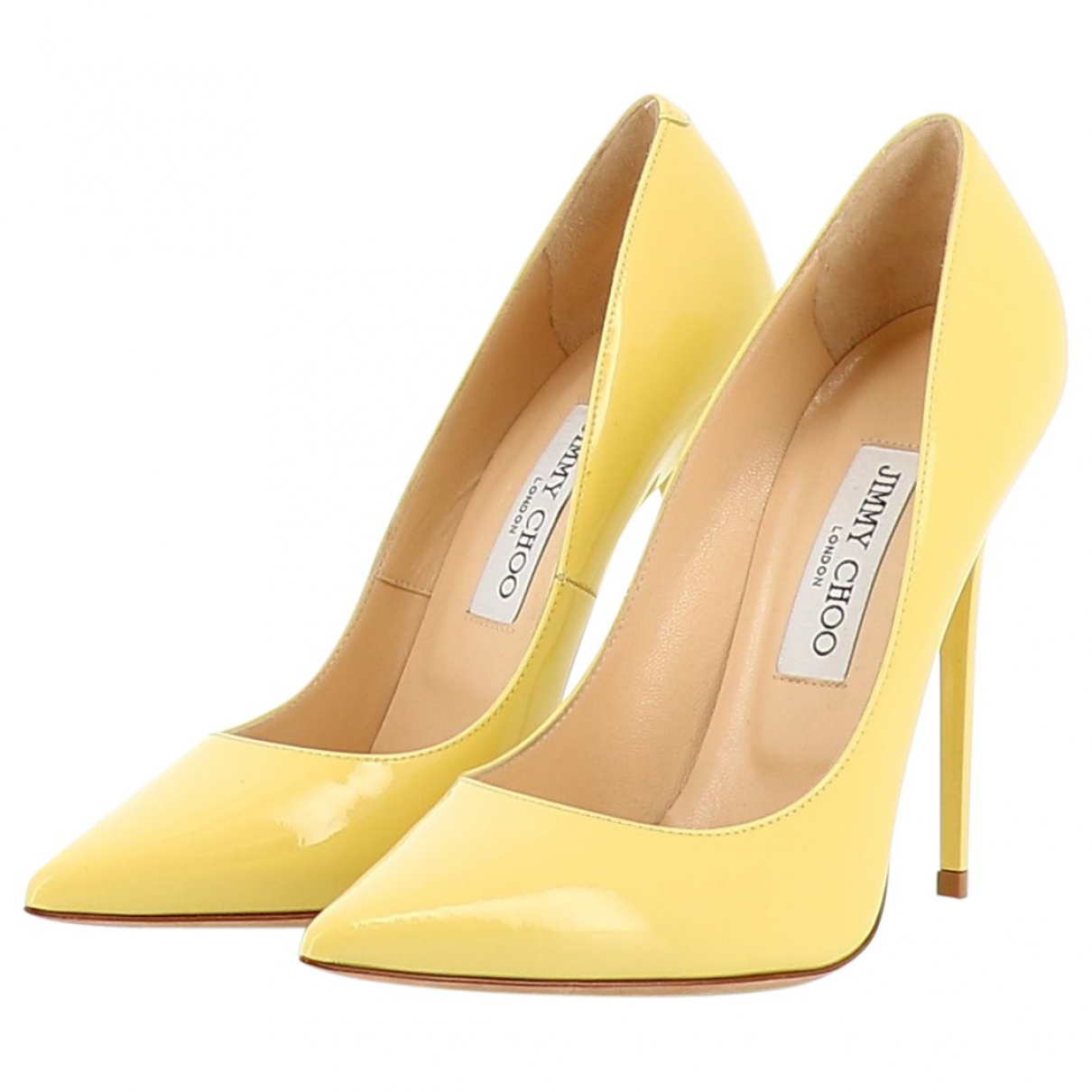 Jimmy Choo \N Yellow Leather Heels for Women 38 EU