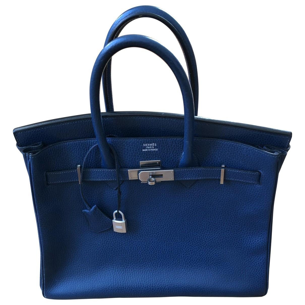 Hermès Birkin 35 Navy Leather handbag for Women \N