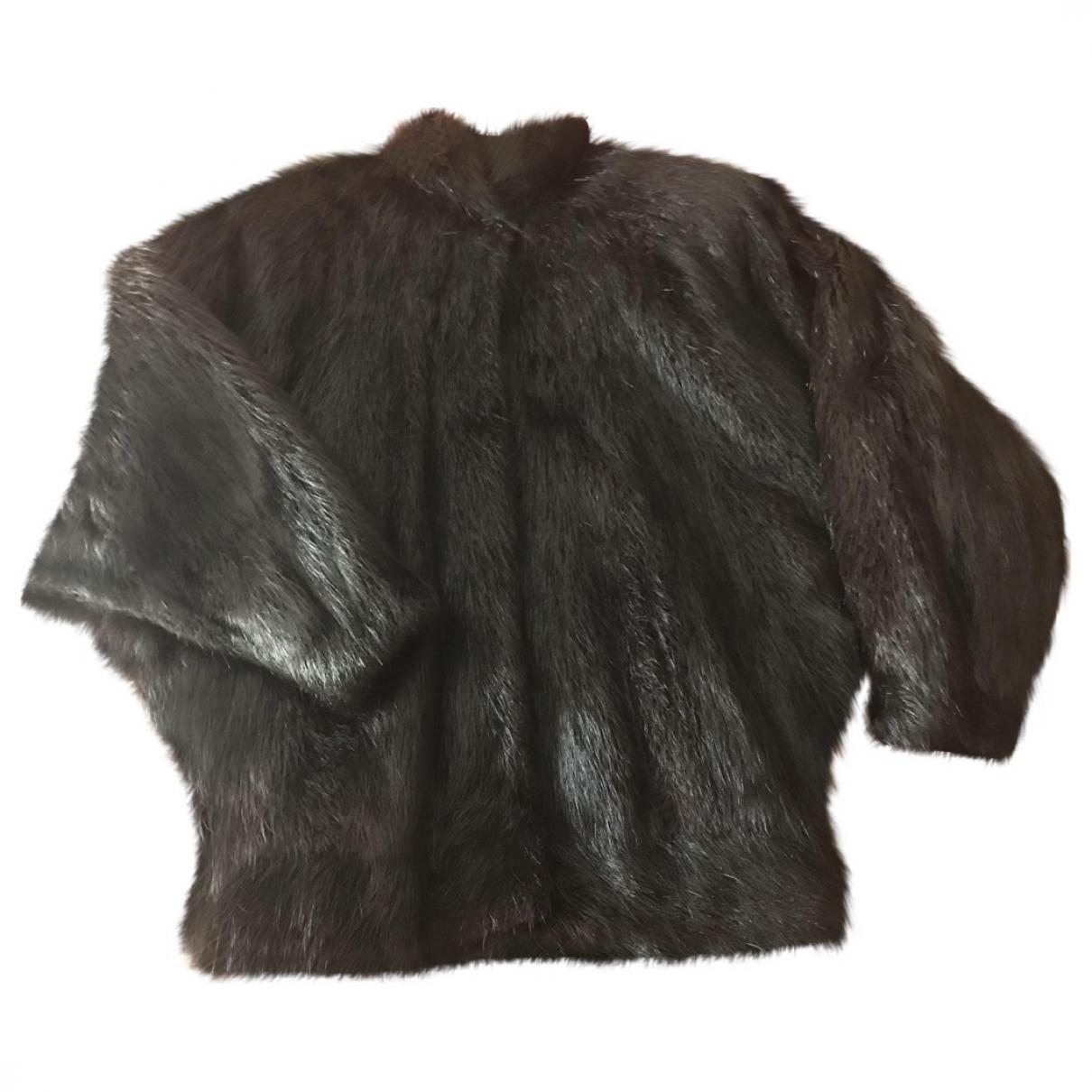 Non Signé / Unsigned \N Black Fur coat for Women 44 FR
