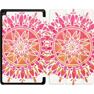 Amazon Fire HD 8 (2017) Tablet Smart Case - Mandala Pink Ombre von Cat Coquillette