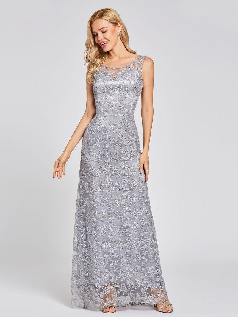 Ericdress Scoop Neck Lace Sequins A Line Evening Dress