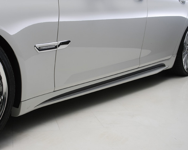 Wald International F02.SS09 Black Bison Side Skirts Bumper BMW 740Li / 750Li / 760Li F01 11-12