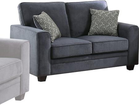 Catherine Collection 52291 Loveseat with Accent Pillows  Wide Track Arms  Removable Cushions  Pocket Coil Seating  Wood Frame and Fabric Upholstery