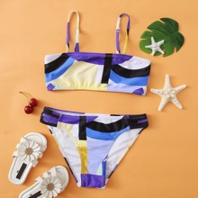 Girls All Over Graphic Bikini Swimsuit