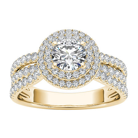 Womens 1 CT. T.W. Round White Diamond 14K Gold Engagement Ring, 9 , No Color Family