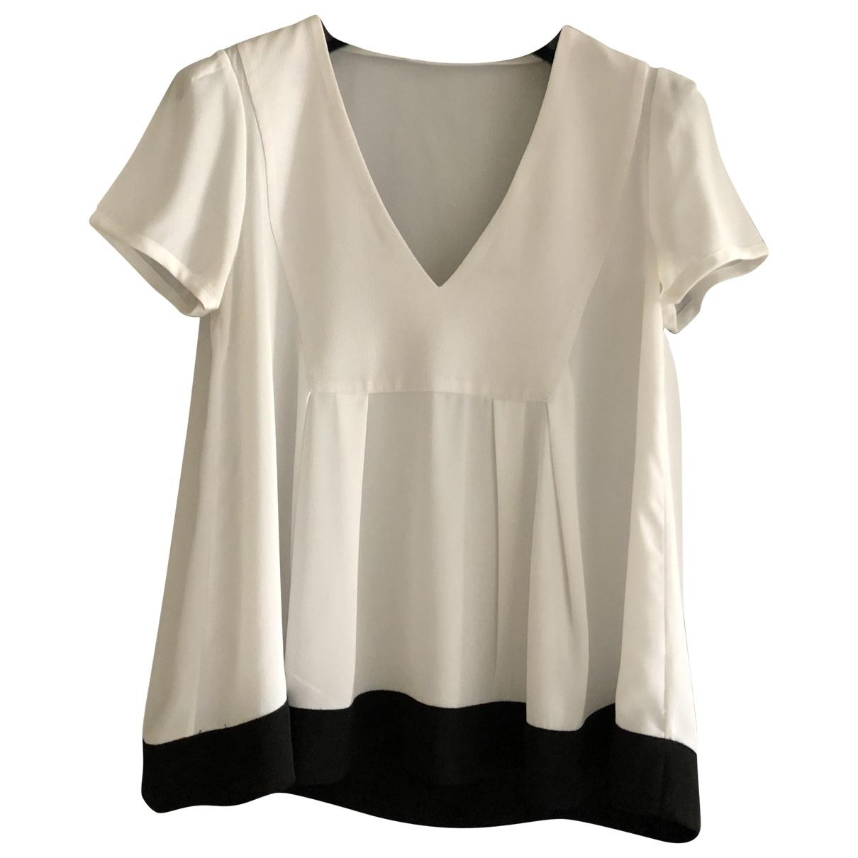 Claudie Pierlot - Top   pour femme en soie - blanc
