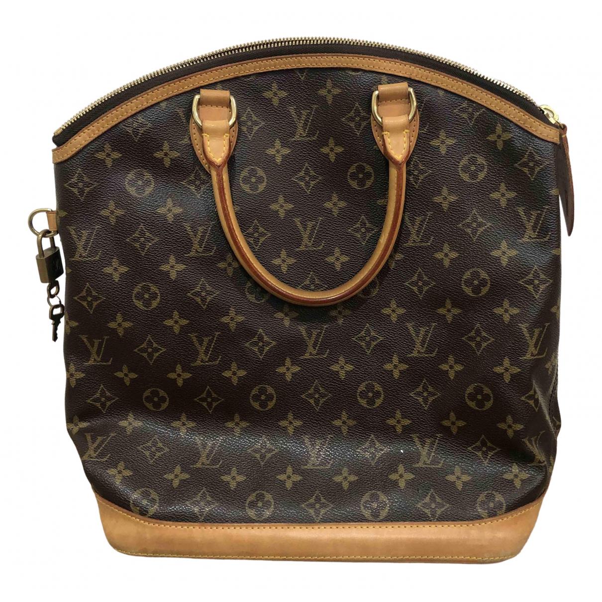 Louis Vuitton Lockit Vertical Brown Cloth handbag for Women \N