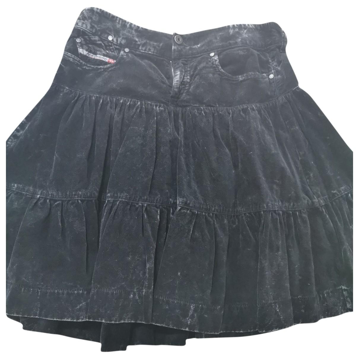 Diesel - Jupe   pour femme en velours - noir