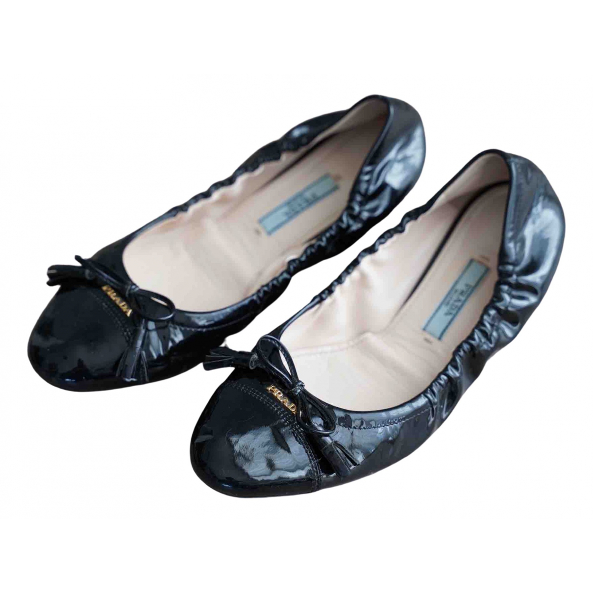 Prada \N Black Leather Ballet flats for Women 36 EU