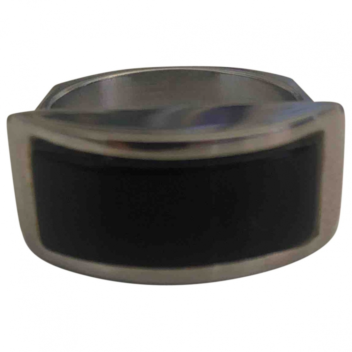 Non Signé / Unsigned \N Black Steel ring for Women 56 MM